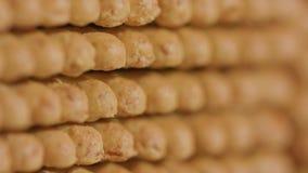 Stapel van Cracker stock video