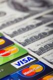 Stapel van creditcards Royalty-vrije Stock Afbeelding