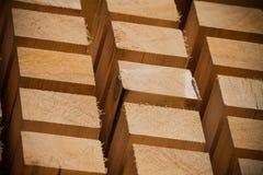 Stapel van de Bouw van Timmerhout Stock Fotografie