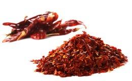 Stapel van de Hete Rode peper van de Spaanse pepers van Spaanse pepers Stock Foto's