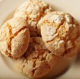 Stapel van de koekjes van de appelspaander Stock Foto's