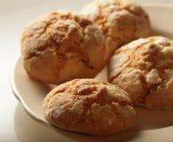 Stapel van de koekjes van de appelspaander Stock Afbeeldingen
