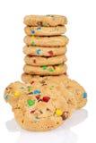 Stapel van de koekjes van de suikergoedchocolade Royalty-vrije Stock Afbeeldingen