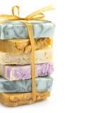 Stapel van de schoonheids de met de hand gemaakte zeep Royalty-vrije Stock Afbeeldingen