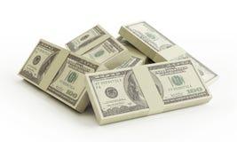 Stapel van $100 rekeningen Stock Fotografie