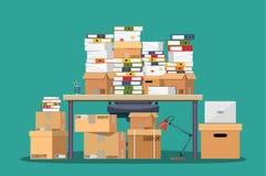 Stapel van document documenten op bureaulijst Royalty-vrije Stock Afbeelding