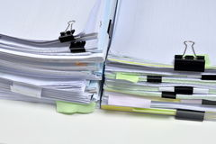 Stapel van documenten Stock Foto's