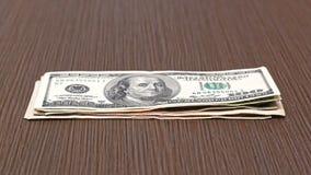 Stapel van dollars Stock Afbeeldingen