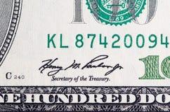 Stapel van dollars in de Verenigde Staten van Amerika Royalty-vrije Stock Afbeeldingen