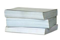 Stapel van drie dikke boeken. Royalty-vrije Stock Foto's
