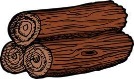Stapel van Drie Logboeken Stock Afbeeldingen