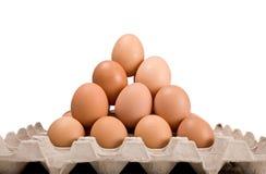 stapel van eieren, geïsoleerde piramidevorm, Royalty-vrije Stock Foto