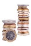 Stapel van Euro muntstukken Royalty-vrije Stock Afbeelding
