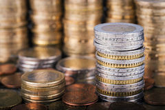 Stapel van Euro muntstukken Royalty-vrije Stock Fotografie