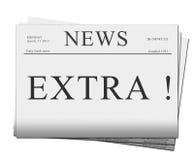 Extra kwestie van kranten Royalty-vrije Stock Afbeeldingen