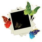 Stapel van foto's stock illustratie