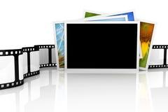 Stapel van foto's en film Royalty-vrije Stock Afbeeldingen