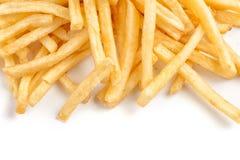 Stapel van frieten stock afbeeldingen
