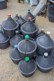Stapel van gallons voor water en wijn 3 Royalty-vrije Stock Foto's
