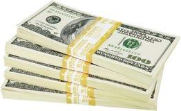 Stapel van Geïsoleerd Geld - royalty-vrije stock afbeelding