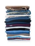 Stapel van geïsoleerde0 kleding Stock Afbeelding
