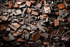 Stapel van gebroken bakstenen Stock Foto's