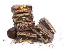 Stapel van gebroken chocolade Royalty-vrije Stock Afbeelding