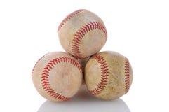 Stapel van Gebruikte Baseballs Stock Fotografie