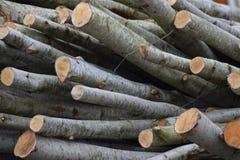 Stapel van gehakt brandhout Stock Fotografie