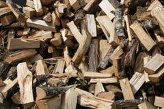 Stapel van gehakt hout Royalty-vrije Stock Afbeeldingen