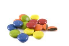 Stapel van gekleurde chocolade Royalty-vrije Stock Afbeelding