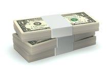 Stapel van geld Stock Foto's