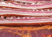 Stapel van gerookt bacon Royalty-vrije Stock Afbeelding