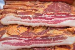 Stapel van gerookt bacon Royalty-vrije Stock Foto's