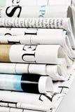 Stapel van gevouwen kranten Royalty-vrije Stock Fotografie