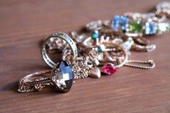 Stapel van Gouden Juwelen Stock Foto