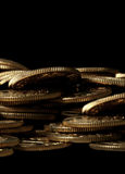 Stapel van gouden muntstukken royalty-vrije stock afbeeldingen