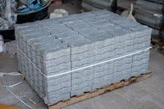 Stapel van het Blok van de Cementbaksteen Royalty-vrije Stock Afbeeldingen
