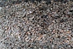 Stapel van het Brandhout van de Pijnboom Stock Foto's