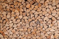 Stapel van het hout van de Brand Royalty-vrije Stock Fotografie