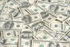 Stapel van honderd dollarsbank n Stock Foto