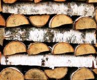 Stapel van hout Stock Afbeeldingen