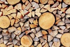 Stapel van hout Stock Foto