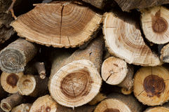 Stapel van hout Royalty-vrije Stock Afbeelding