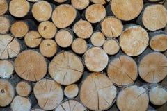 Stapel van hout voor de open haard Stock Foto