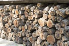 Stapel van houten Royalty-vrije Stock Afbeelding