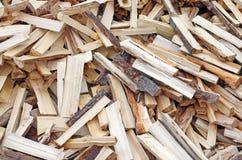 Stapel van houten achtergrond Stock Foto
