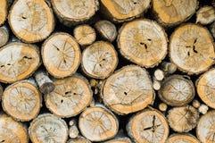 Stapel van houten logboek royalty-vrije stock foto's