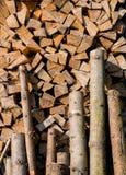 Stapel van houten logboeken Royalty-vrije Stock Foto