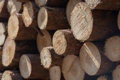 Stapel van houten logboekenclose-up royalty-vrije stock afbeelding